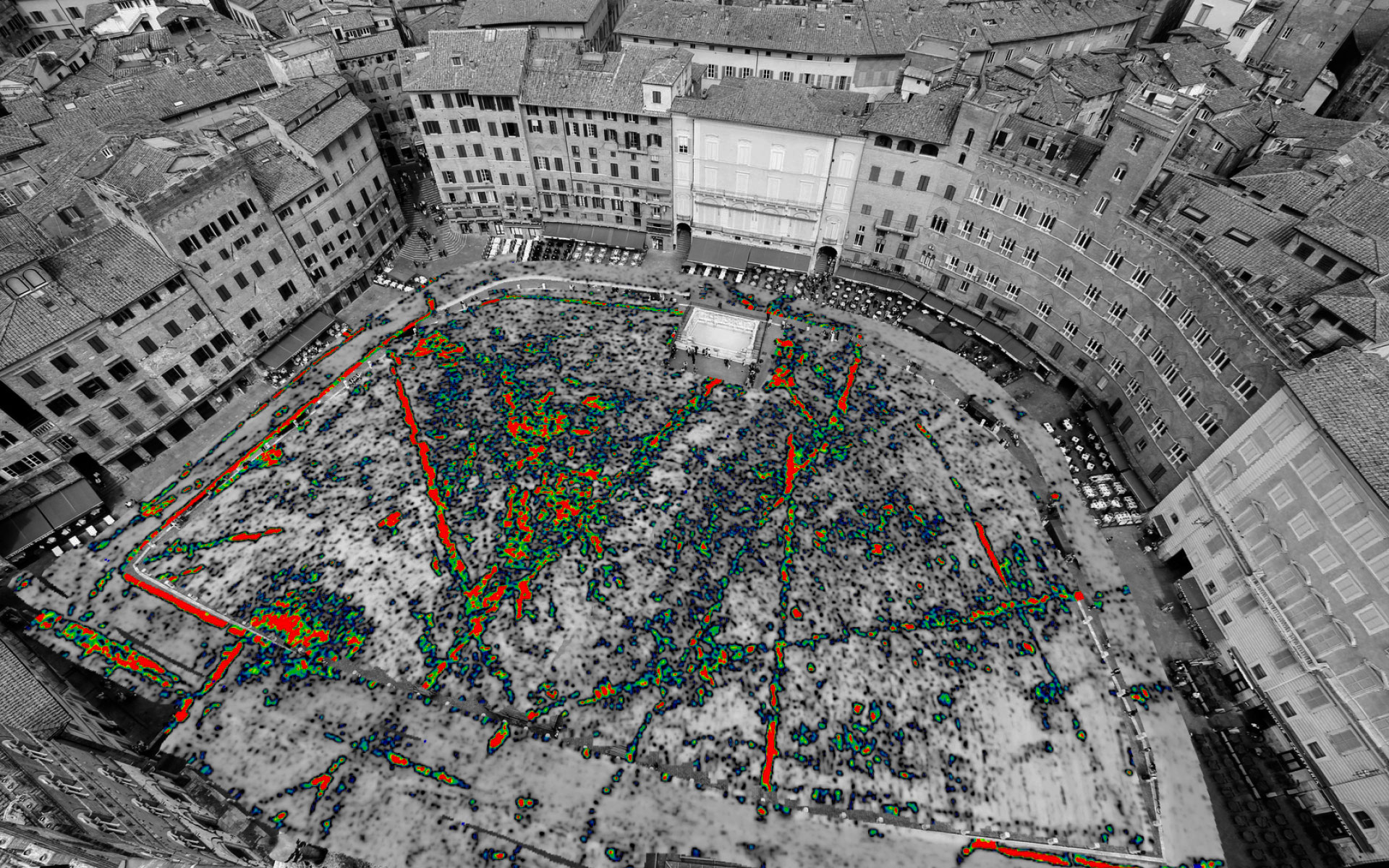 GPR depth slice Siena (Italy).