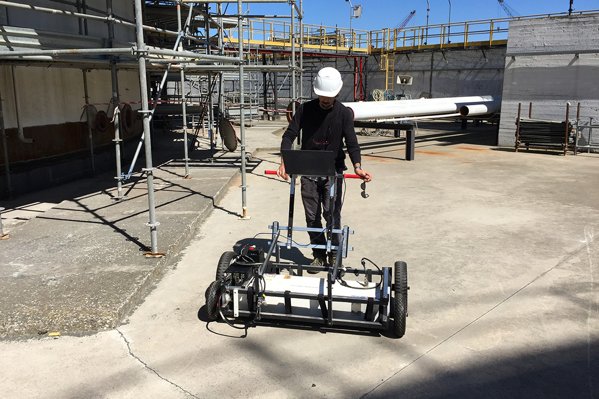 Concrete Inspection By Multi Channel GPR.